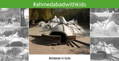 """#AhmedabadwithKids An underground art gallery in #Ahmedabad, """"Amdavad ni Gufa"""" features the works of the famous artist Maqbool Fida (M.F.) Husain.  A place your kid would love to be in. A perfect one if """"art"""" is one of his/her hobby. Get him/her to """"Amdavad Ni Gufa"""" and see to how it soothes him/her.  The caves are in the form of domes, covered with the mosaic of tiles.  A""""would love to be into"""" place for any art lover. Do visit once!"""