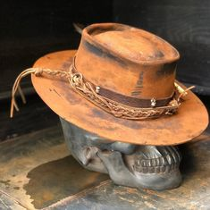 Custom Cowboy Hats, Custom Hats, Knit Hat For Men, Hat For Man, Bohemian Style Men, Black Armor, Boho Hat, Double Barrel, Cowgirl Chic