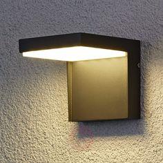 Moderne utendørs Rachel LED-vegglampe i aluminium-9618006-01