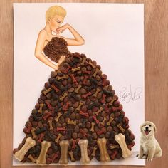 Dress made out of dog food by Edgar Artis