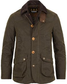 Barbour Lifestyle Cullen Wax Jacket Olive i gruppen Kläder / Jackor / Vaxade jackor hos Care of Carl (12017911r)
