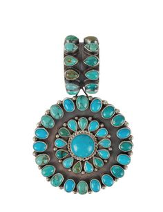 Rocki Gorman blue and green turquoise pendant. This is the perfect piece of southwest jewelry. #ad