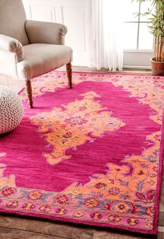 OverdyeRE40 Hand Tufted Wool Persian Medallion Rug