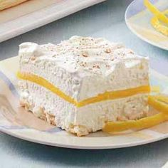 Lemon Schaum Torte. I haven't heard of this dessert since I left WI 35 yrs ago. Then I saw it was originally posted by someone from my hometown of Cedarburg :)