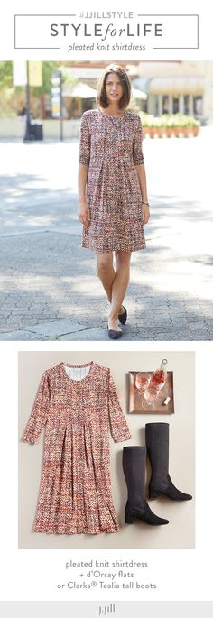 ea8619c6ad05 J.Jill · Fall Outfits · A dress for every occasion--pair with heels or  boots to take you from