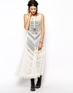 Free People Slip Dress // ASOS Love it, don't have the guts to wear it, perhaps at home?