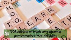 Aprendiendo estás 1000 palabras en inglés podrás comprender el 92% de los textos en inglés, más que una lista de palabras en inglés, te las traducimos e incluimos su pronunciación + técnicas para aprenderlas