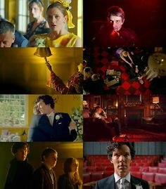 yellow/red color in the Empty Hearse #sherlock