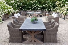 restoration hardware outdoor dining table real life - Google Search