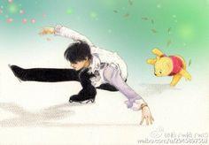 Yuzuru + Pooh fanart