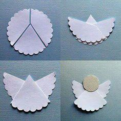 Paper doily angel