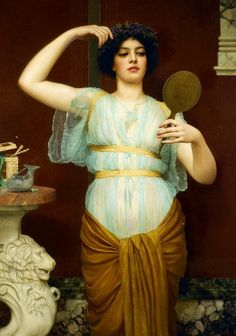 John William Godward (British, 1861-1922) - Ione>>>>why does she look like Anne Hathaway to me?