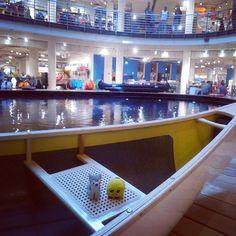 ¡Esta tienda molona tiene hasta una #piscina dentro para probar #canoas, #piraguas y equipos de #submarinismo!  #swimmingpool #boats #scubadiving #softtoys #peluches #pelucheando