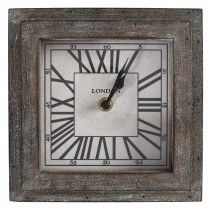 Metro Iron clock square Rustic small