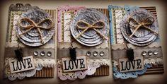 ATC cards made by Casey Nelson Canvas Corp - burlap, paper, jute