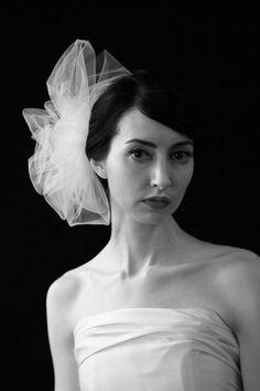"Sara Gabriel ""Marilyn"" veil. tulle pouf side comb"