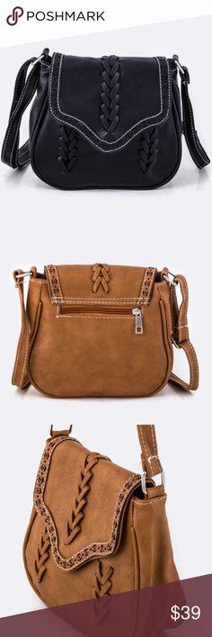 15% OFF 2+▪️ boho crossbody bag black lasercut Suuper soft vegan leather crossbody bag  BLACK for sale (brown only shown for detail shots) WILA Bags Crossbody Bags