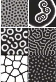 Turing patterns Graphic Design Pattern, Graphic Design Inspiration, Patterns In Nature, Textile Patterns, Impossible Shapes, Science Images, Code Art, Parametric Design, Computer Art