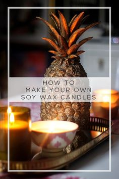 One of my favourite things about Autumn is that it's totally acceptable to fill your home full of candles. Want to find out how to make soy wax candles at home? Check out my super simple DIY!