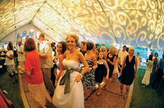 Can you believe this tent with the lighting creating a fabulous pattern...we need this at our next event for sure.  If you're interested in a tent like this then click the image above and contact Nashville wedding rental company, Grand Central Party Rentals. Photo credit: ThePinkBride.com