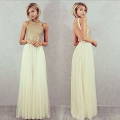 bridesmaid tulle on sale at reasonable prices, buy Charmming Chiffon Tulle with Top Champagne Gold Sequin Bridesmaid Dresses Formal Prom Dress 2019 Long Special Occasion Dresses from mobile site on Aliexpress Now! Floral Bridesmaid Dresses, Gold Prom Dresses, Prom Dress 2014, Cheap Prom Dresses, Wedding Party Dresses, Prom Gowns, Ballerina, Simple Prom Dress, Bridal
