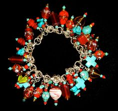Charmed Red~ Day of the Dead by OlavJulesDesigns on Etsy, $124.99