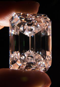 This diamond is the only classic emerald-cut diamond of the highest color and clarity and over 100 carats to come into auction.