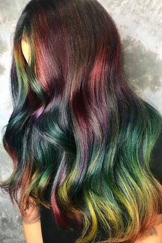 5c1e609f6869 27 Incredible Looks With Oil Slick Hair