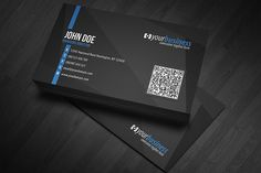Interesting vawy personal journalist business card template designed premium black corporate qr code business card template with clean design available for purchasing from reheart Image collections