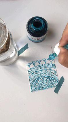 Mandala Art Lesson, Mandala Artwork, Mandala Drawing, Diy Wall Painting, Easy Canvas Painting, Diy Canvas Art, Art Drawings Sketches, Doodle Art, Diy Art
