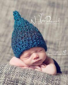Crochet PATTERN - Gnome Hat Crochet Pattern - Crochet Patterns Baby - Baby Elf Hat - Pixie Hat - Baby, Toddler, Kids, Adult Sizes - PDF 273