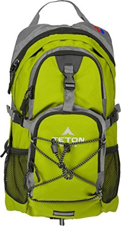 TETON Sports Oasis 1100 2 Liter Hydration Backpack Perfect for Skiing, Running, Cycling, Biking, Hiking, Climbing, and Hunting; 2 L Water Bladder Included; Free Rain Cover Included; Bright Green - The TETON Sports Oasis 1100 is the perfect all-day hydration pack; whether you are mountain biking, hiking, or snowshoeing—there's no limit to the adventures you can take this pack on. Designed with your comfort in mind, it has an athletic cut so it rides low and close to your body. It can be…