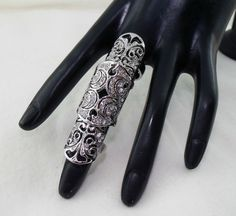 Fingerring Gliederring Gelenkring Ring Romantik Gothic Mond Barock Strass
