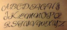 Alphabet majuscule calligraphie couleur au choix scrapbooking : Embellissements par sagaposart