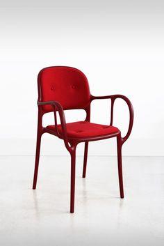Milà Chair Red Cushion for Magis, designer Jaime Hayon