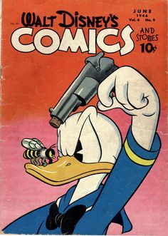 Walt Disney's Comics and Stories (Dell) June 1946 Walt Kelly (pencils, ink. - The Trend Disney Cartoon 2019 Cartoon Wallpaper, Retro Wallpaper, Disney Wallpaper, Vintage Cartoons, Old Cartoons, Vintage Comics, Vintage Disney Posters, Old Comics, Vintage Mickey
