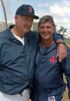 Ted Williams & Carl Yaztremski (photo by Cliff Welch)
