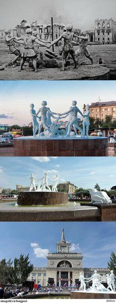 """В Волгограде воссоздан знаменитый довоенный фонтан """"Танцующие дети"""""""