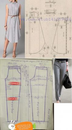Costura Tutorial and Ideas Jumpsuit Pattern, Pants Pattern, Dress Sewing Patterns, Clothing Patterns, Costura Fashion, Crochet T Shirts, Sewing Blouses, Sewing Pants, Sewing Lessons