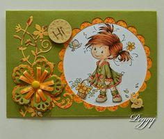 Mijn Droomkaartenhuis: Whimsy Wee Peggy: fleurig bloemenkaartje