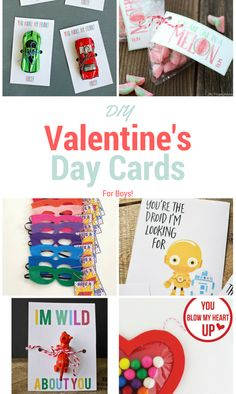 DIY Valentine's Day Cards For Boys. Simple crafts to make your own DIY valentine's day cards this year!