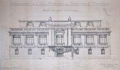 Projet de façade principale de la Villa Rambourg (réalisé). Anselmi architecte, 25 novembre 1922