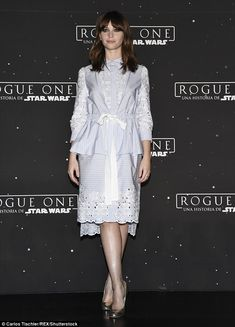 British beauty! Felicity Jones  attended a photocall for the highly-anticipated film Rogue One: A Star Wars Story in Mexico City, Mexico on Tuesday