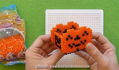 DIY Halloween hama perler bead basket by Rachel