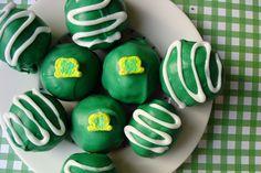 St. Patrick's Day Peanut Butter Truffles..      ilovepeanutbutter...