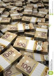 Image result for canadian money stacks