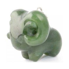 Jade Charm - Cartoon Ram Animal Taurus Zodiac (2.065 RUB) ❤ liked on Polyvore featuring jewelry, pendants, comic book, carved jewelry, comic jewelry, jade jewellery and charm pendant