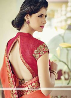 Online saree shopping India at sarees palace. choose from a huge collection of designer, ethnic, casual sari, buy sarees online India for all occasions. Choli Designs, Sari Blouse Designs, Saree Blouse Patterns, Modern Blouse Designs, Kitenge, Saris, Cheongsam, Sari Bluse, Indische Sarees