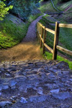 Ancient Footpath in Suffolk, England