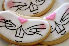Bunny Face cookies  (1 dozen) on Etsy, $36.00